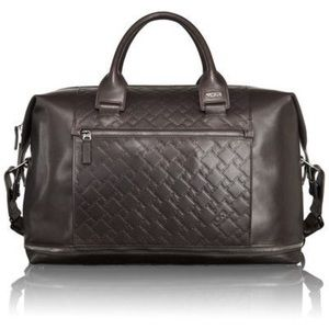 Tumi Ticon Beacon Brown Leather Logo Computer Bag